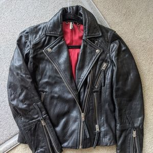 Topshop genuine leather moto jacket